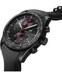 Porsche Design Chronotimer Series 1 Flyback guards red - Schwarz