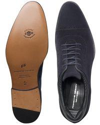 Porsche Design Business Casual GY Velours Lace Up Shoes - Schwarz