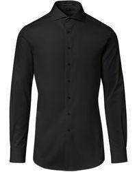 Porsche Design Slim Fit Business Shirt - Schwarz