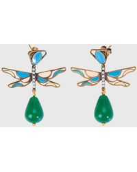 Ports 1961 Dragonfly Ring With Pomegranate Drop In Green