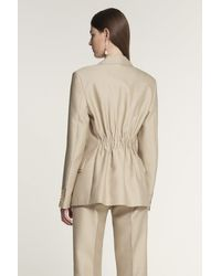 Ports 1961 Double Flap Tailored Jacket - Natural