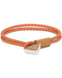 Prada Braided Nappa Leather Bracelet - Brown