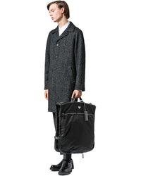 Prada Saffiano Leather And Nylon Garment Bag - Black