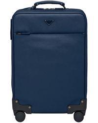 Prada Saffiano Leather Trolley - Blue