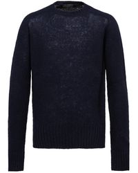 Prada Shetland Wool Sweater - Blue