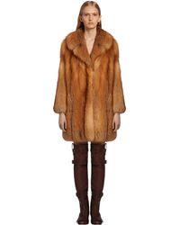 Prada - Fox Fur Coat - Lyst