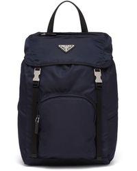 Prada Nylon Backpack - Blue