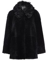 Prada Shearling Fur Jacket - Black