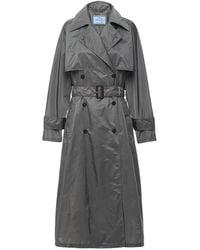 Prada Lightweight Nylon Trench Coat - Gray