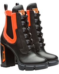 Prada - Chunky Lace-up Boots - Lyst