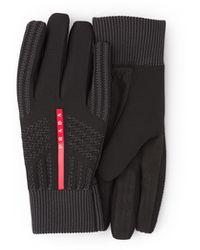 Prada Windproof Knit Gloves - Black