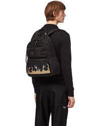 7af48765745b Prada - Nylon Backpack With Saffiano Leather Inserts - Lyst
