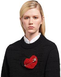Prada Pin With Heart - Multicolor