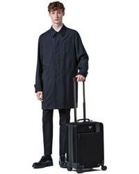 af431db9d3d5 Lyst - Prada Nylon And Saffiano Leather Trolley in Black for Men