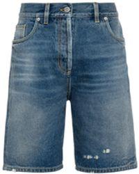 Prada Organic Denim Bermuda Shorts - Blue