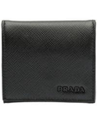 Prada Saffiano Leather Coin Purse - Black