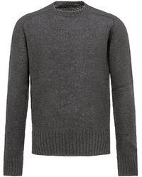 Prada Shetland Wool Sweater - Gray