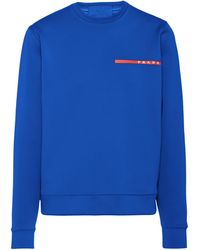 Prada Recycled Double Technical Jersey Sweatshirt - Blue
