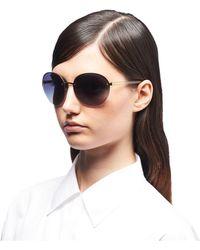 9cb7d8d37a Prada Hide Eyewear in Brown - Lyst