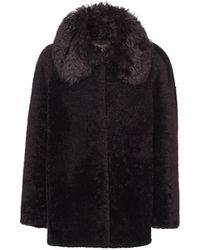 Prada Shearling Fur Jacket - Brown