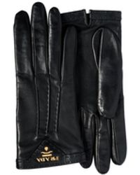 Prada Leather Gloves - Black
