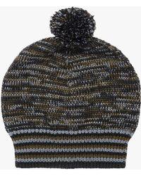 Prada | Cablé Wool Hat With Pompom | Lyst
