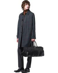 Prada Nylon And Saffiano Leather Duffel Bag - Black