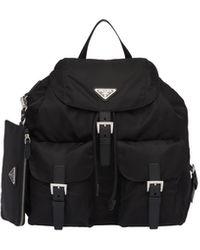 Prada - Studded Nylon Backpack - Lyst