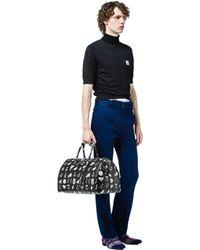 Lyst - Prada Men s Printed Nylon Tote Bag in Black for Men 8cebe2714c0b3
