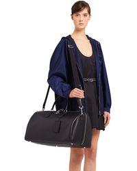 Prada Saffiano Leather Travel Bag - Black