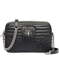 Prada Leather Diagramme Bag - Black