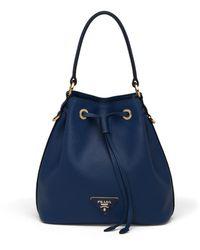 Prada - Leather Bucket Bag - Lyst