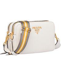 Prada Leather Cross-body Bag - White