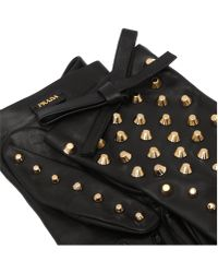 Prada Short Nappa Leather Gloves