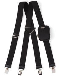 Prada Elasticized Suspenders - Black