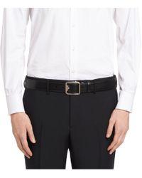 Prada - Grained Calf Leather Belt - Lyst