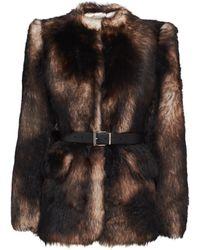 Prada Shearling Fur Jacket - Multicolor