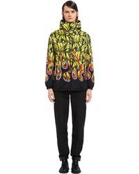 Prada Padded Printed Nylon Jacket - Multicolor