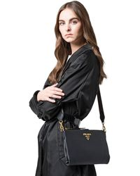 0d532d26cb0f Prada Top Handle in Black - Lyst