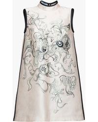 Prada - All Designer Products - Satin Print Dress - Lyst