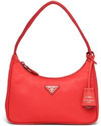 Prada Re-edition 2000 Nylon Mini Bag - Red