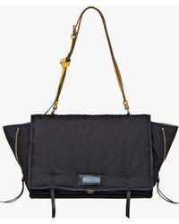 Prada - Etiquette Fabric Shoulder Bag - Lyst