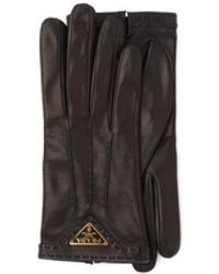 Prada Nappa Leather Gloves - Black