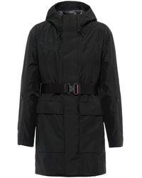 Prada Extreme-tex Hooded Raincoat - Black