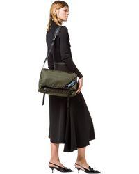 Prada - Large Nylon And Leather Shoulder Bag - Lyst