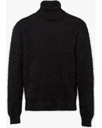 Prada Angora Turtleneck Sweater - Black