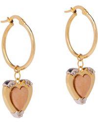 Prada Fine Jewelry Heart Earrings - Metallic