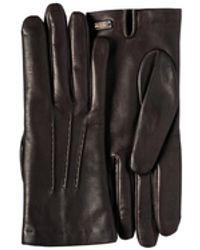 Prada Leather Gloves - Brown