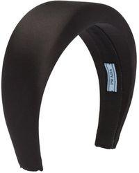 Prada - Logo-patch Padded Headband - Lyst