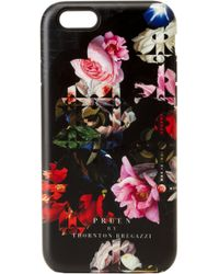 Preen By Thornton Bregazzi - Iphone Case Black Lace Flower - Lyst